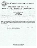 Max Rate Schedule