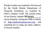 North Dakota State License